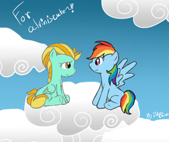.:: A cute time in the sky :: RainDust ::. by iUzuChan