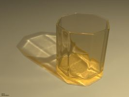 Empty Colored Glass by zbyg
