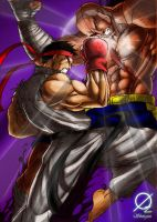 Metsu Shoryuken colored by Osmar-Shotgun