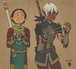 Elf bonding (it was either this or frolicking) by kosmonauttihai