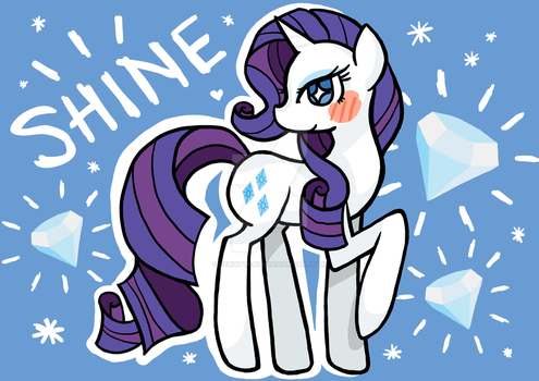 A5-A4 Print Rarity MLP FiM by oFruitTango