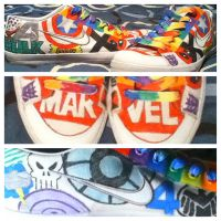 Marvel Shoes by Lord-of-the-Fandoms