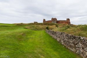Leaving Tantallon Castle by LordMajestros