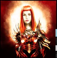 HAYLEY WILLIAMS IN RED ARMOR by Sinfrid