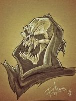 Skeletor (Sketch Dailies) by patrickianmoss