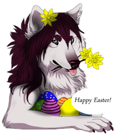 Happy easter by TheMysticWolf
