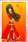 Chinese Priestess: Fire Flower by ling-kano