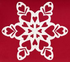 Large Valentines Day Snowflake by Mokeydandy