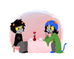 karkitty and nepeta :33 by MimiMarieT