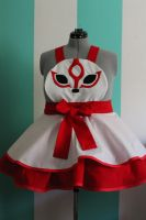 Amaterasu Cosplay Pinafore Commission by DarlingArmy