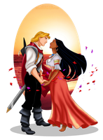 Pocahontas and John Smith - Reunion by selinmarsou