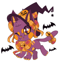 Witch kitty Auction (CLOSED) by Moshi-oshi