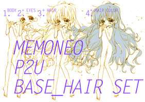 [Pay-To-Use] Base Hair Set by memoneo