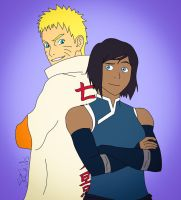 Naruto and Korra by StaroSeren