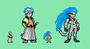Grimmjow JUS Sprite by Flamejow