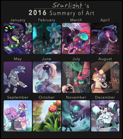 Srarlight's 2016 Art Summary by Srarlight