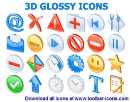 3D Glossy Icons by Ikont