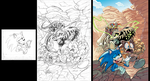 Sonic Boom #4 Variant pencils by Nerfuffle