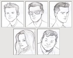 All-New X-Men Team Portraits - pencil sketch by NMRosario