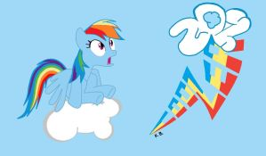 Rainbow Dash 20 % Cooler My littel Pony by sallycars