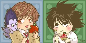 Death Note Snack Time by jiggly