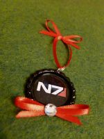 Mass Effect N7 Christmas Ornament by Monostache