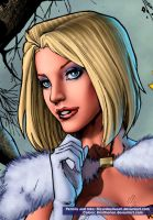 Emma Frost by Ricardo Silva Close-up by Kristherion