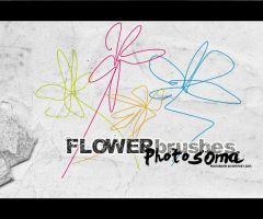 4 flower brushes by photosoma