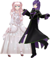 MMD Project Diva f GakuLuka Rosa Bianca Violet DL by GoThiCvaMPiR3