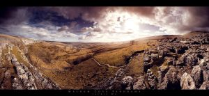 Malham Cove Panorama by geckokid