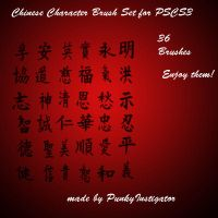 Chinese Character Brushes by WyldCat187