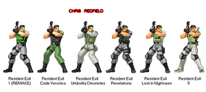 Chris Redfield all Costumes. by juniorbunny