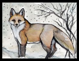 Winter Fox by Liren