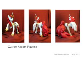 Custom Alicorn Figurine by MiiruFae