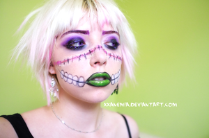 Spidella Halloween Makeup 2 by XXAnemia