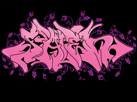 Pinky Graffiti by shiroi33