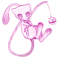 Little Mew Sketch by GlaciesAenigma