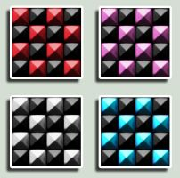 Check Spiked Tiles by Spookeriffic