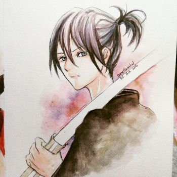 Yato- Watercolor painting by Cane-the-artist