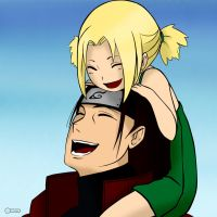 Little Tsunade and grandpa Hashirama by Iduna-Haya