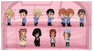Ouran Chibis by MelodicSoul
