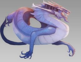 Blue Drake by magmi