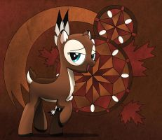 MaplePuff with abstract background by Dyani-Yahto