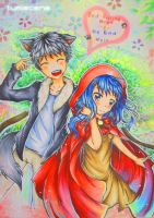 Red riding hood doodle by Lumiscene