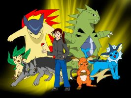 Me and my Pokemon Team by SilverToraGe