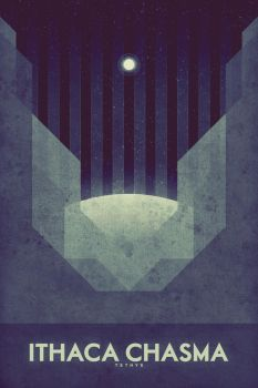 Ithaca Chasma - Space Poster by FabledCreative