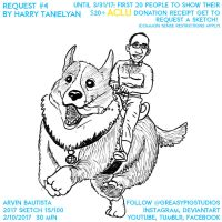 Arvin Bautista 2017 15/100: Harry Riding Corgi by greasypigstudios