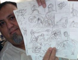 Draft to new '4 Pager' comic by javierhernandez