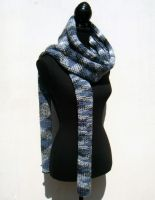 Long zigzag scarf by PolClary