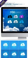 CLOUDIE Massive Icon Set (336 icons) by anekdamian